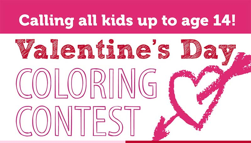 95th Street Valentine's Coloring Contest